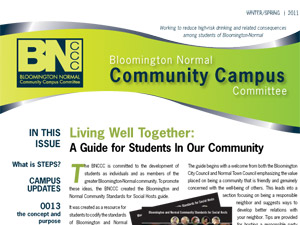 Bloomington/Normal Community Campus Committee Newsletters